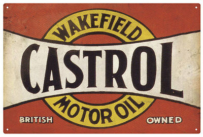 Castrol Wakefield Motor Oil Vintage  Tin Sign  Large