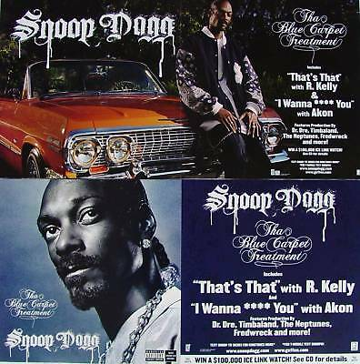 SNOOP DOGG The Blue Carpet Treatment PROMO 2Side Poster