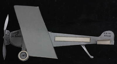 Paper Airplane fold out vintage Spirit of St Louis mint cardboard flying sign