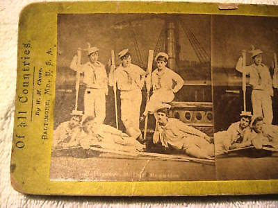 1860s BALTIMORE MD BALLET BEAUTIES,W.M.CHASE,STEREOVIEW