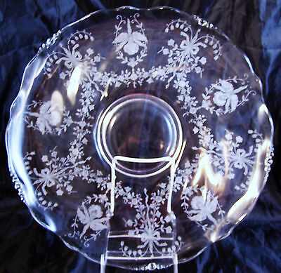 Heisey Orchid 14 in Plate Platter Round