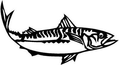 Mackerel Fish Vinyl Decal Sticker Car Truck Boat Window