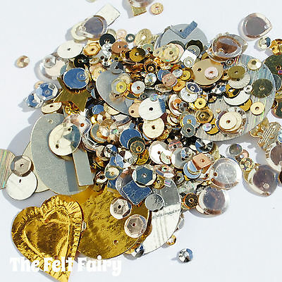 Mixed Cup Sequins 100+ Loose Sparkle Gold & Silver Mix