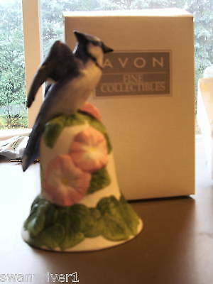 Avon Blue Jay And Flower Bell 2001