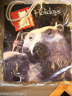 1995 Coca Cola Bear Gift Bag From White Castle