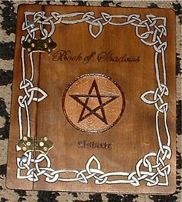 Wooden Book of Shadows - Wicca, Witch, Pagan