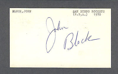 John Block signed basketball 1971 government postcard