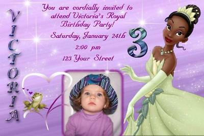 Princess and the Frog Personalized Birthday Invitation