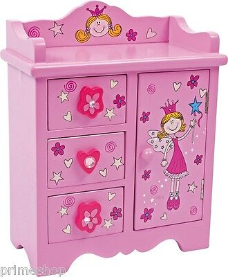 KOMMODE Holz BEAUTY PRINCESS ca. 8,5 x 17 x 22 cm NEU