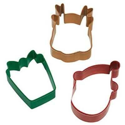 Wilton Christmas Holiday 3 pc Cookie Cutter Set Metal