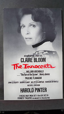 THE INNOCENTS Window Card CLAIRE BLOOM Tryout REVIVAL 1976