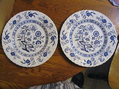 "J.G. Meakin Classic White""Blue Nordic""Salad Plates"