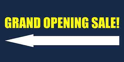 Grand Opening Sale w/ arrow Business Banners 3x6