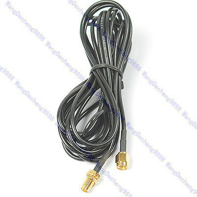 3m Antenna Cable RP-SMA Extension Wi-Fi WiFi Router New