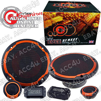 "Edge ED305 5 5.25"" 420w Car Door Component Speakers Set"