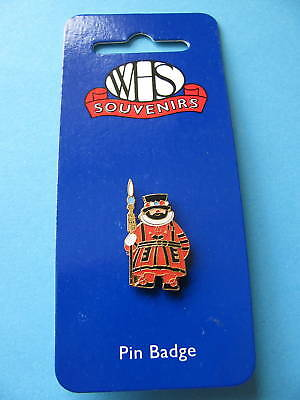 Beefeater enamel pin badge on card