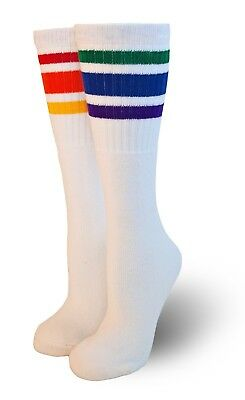 "Pride Socks Baby/Toddler 10"" Rainbow Striped Tube Socks CUTE! T3-10"