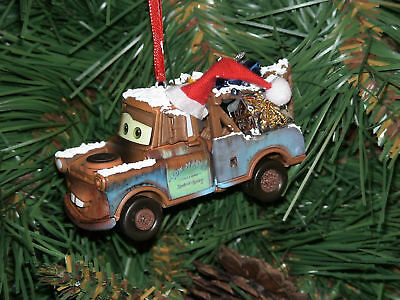 Disney Pixar  Christmas Ornament-Tow Mater w/gifts &hat