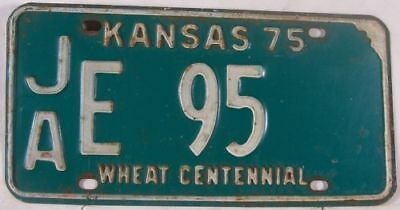 1975 Jackson Co Kansas JA E 95 License Plate Centennial