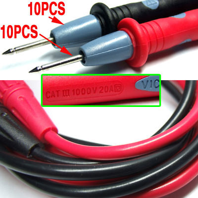 20PCS 1kV 20A MULTIMETER TEST PROBES Clamp Meters Cable