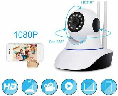 Telecamera Ip Camera Hd 720P Wireless Led Ir Lan Motorizzata Wifi Rete P2P