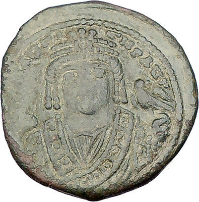 MAURICE TIBERIUS 582AD Ancient Medieval BYZANTINE Coin THEOUPOLIS mint  i15546