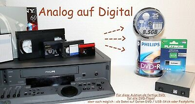 Kassetten digitalisieren 3 Video-Bänder Hi8, Digital8,als fertige DVD