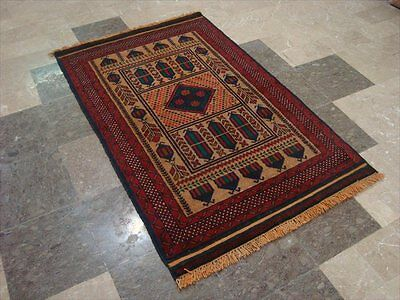 BALAUCHI TRIBAL NOMADIC AFGHAN HAND KNOTTED RUG 4.8x3.0