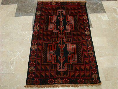 BALAUCHI TRIBAL NOMADIC AFGHAN HAND KNOTTED RUG 4.6x2.9