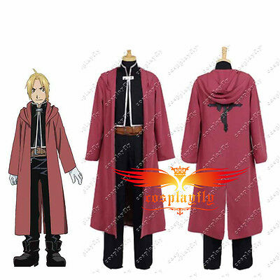 Fullmetal Alchemist Edward Elric's Uniform Cosplay Costume Custom Made