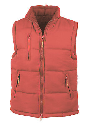 Result RED Peached Polyester Padded Gilet Bodywarmer