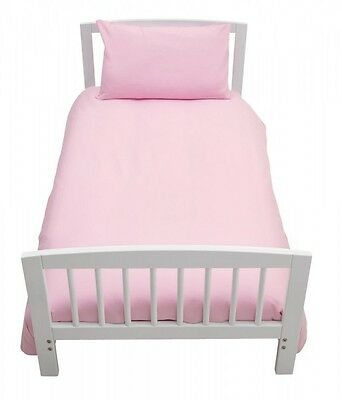 Luxurious Brand New Baby Cot Bed Duvet Cover Set Pink 120Cm X 150Cm