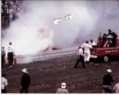 EDDIE SACHS DAVE MacDONALD FATAL ACCIDENT 1964 INDY 500 8 X 10 PHOTO