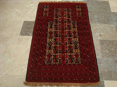 BALAUCHI TRIBAL NOMADIC AFGHAN HAND KNOTTED RUG 4.9x3.0