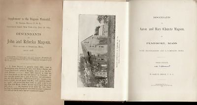 Magoun and Church of Pembroke, MA 1891 w/ Supplement