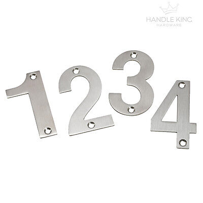 Stainless Steel Numerals, House Numbers Brushed Finish