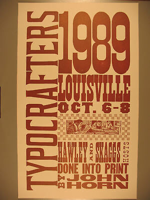 Wood Type Poster for 1989 Typocrafters Meeting