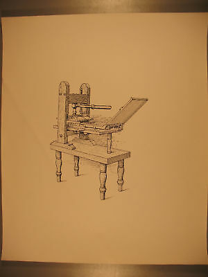 Reproduction of Drawing of Wooden Common Press