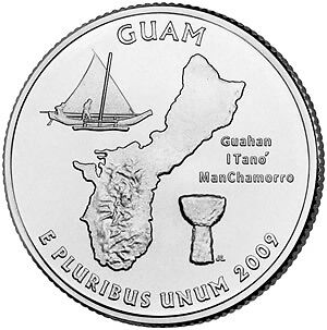 2009-P Guam Territorial Quarter~Free Shipping~~Super~~