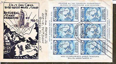 735SS-9 Leo August Byrd Antarctic Souv Sheet of 6 Is