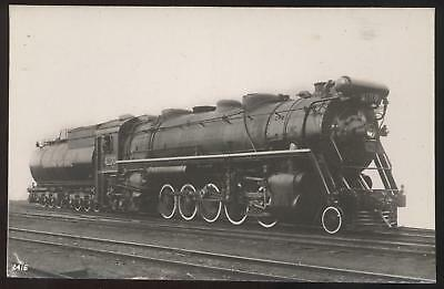 RP Postcard CANADIAN NATIONAL Steam Locomotive #4100
