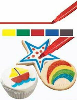 Wilton Foodwriter Primary Fine Tip Color Markers Edible