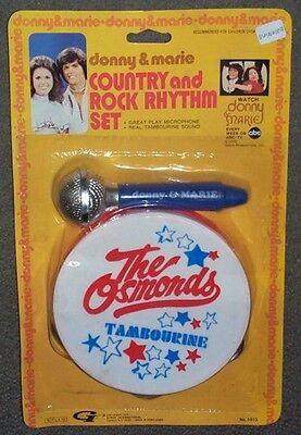 Donny & Marie Osmond Red Tambourine Set MOC RARE NEW