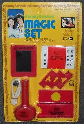 Donny & Marie Osmond Magic Set MOC RARE NEW HOT Vintage