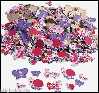 50 Foam Love Bugs Butterfly Stickers Shapes ABCraft