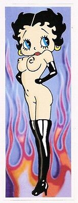 BETTY BOOP DECAL nude wearing boots 19.5 cm tall