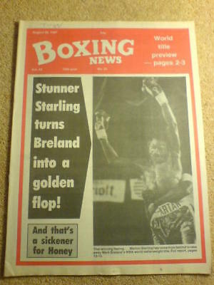 BOXING NEWS - 28 Aug 1987 - MARION STERLING