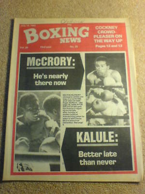 BOXING NEWS - 16 July 1982 - McCRORY