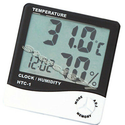 LCD Thermometer Hygrometer Humidity Meter Clock s026