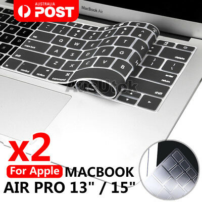 "2x Waterproof Keyboard Case Cover Skin For Apple MacBook Pro Air 13.3"" 15.4"" 17"""